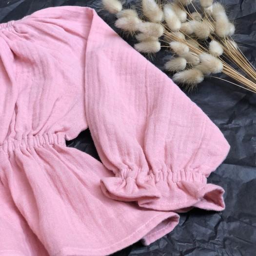 Blusa maniche lunghe Rosè